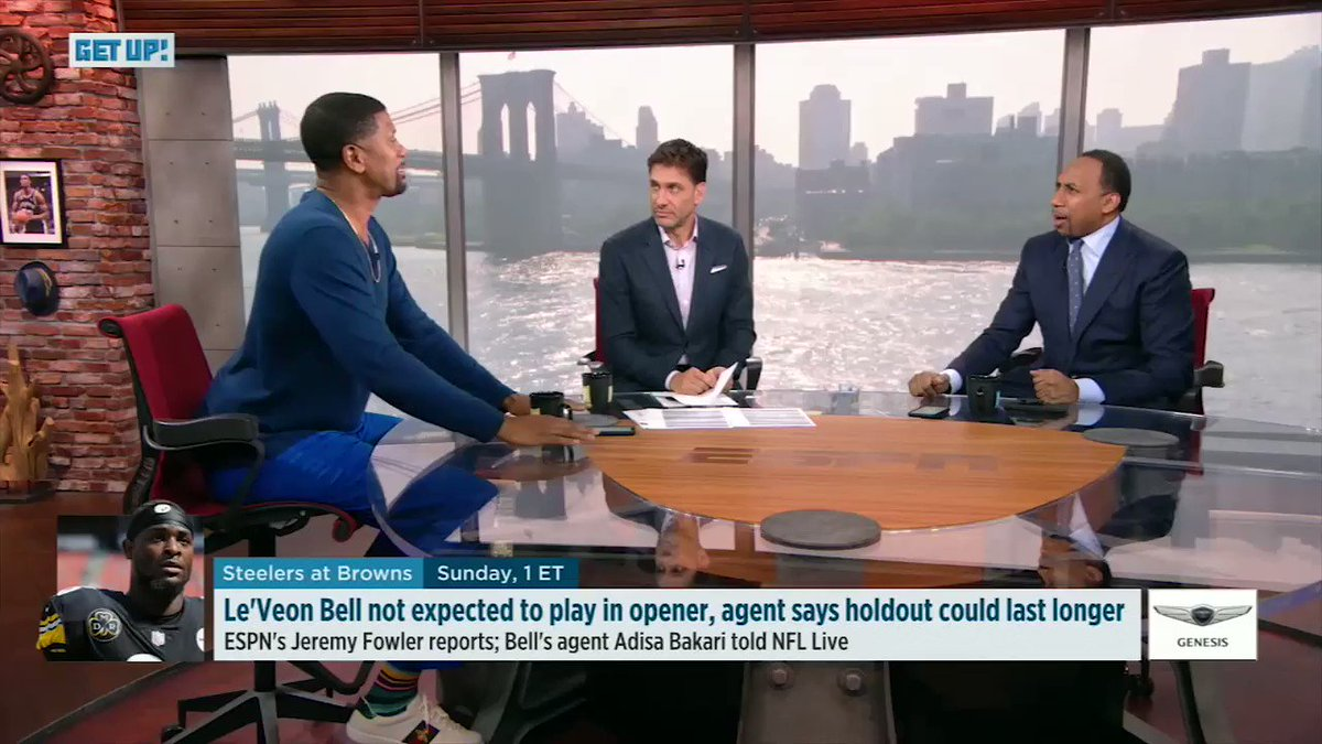 Le'Veon Bell got @stephenasmith and @JalenRose going in on each other. 😂