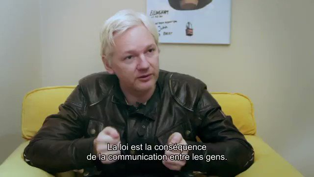 """""""If the law is put in charge of the right to communicate, then the law is put in charge of the law. Which is inherently corrupt"""" -- Unreleased footage of @JulianAssange from documentary filmmaker @Tarquinster. New film about #FreeSpeech just released:"""