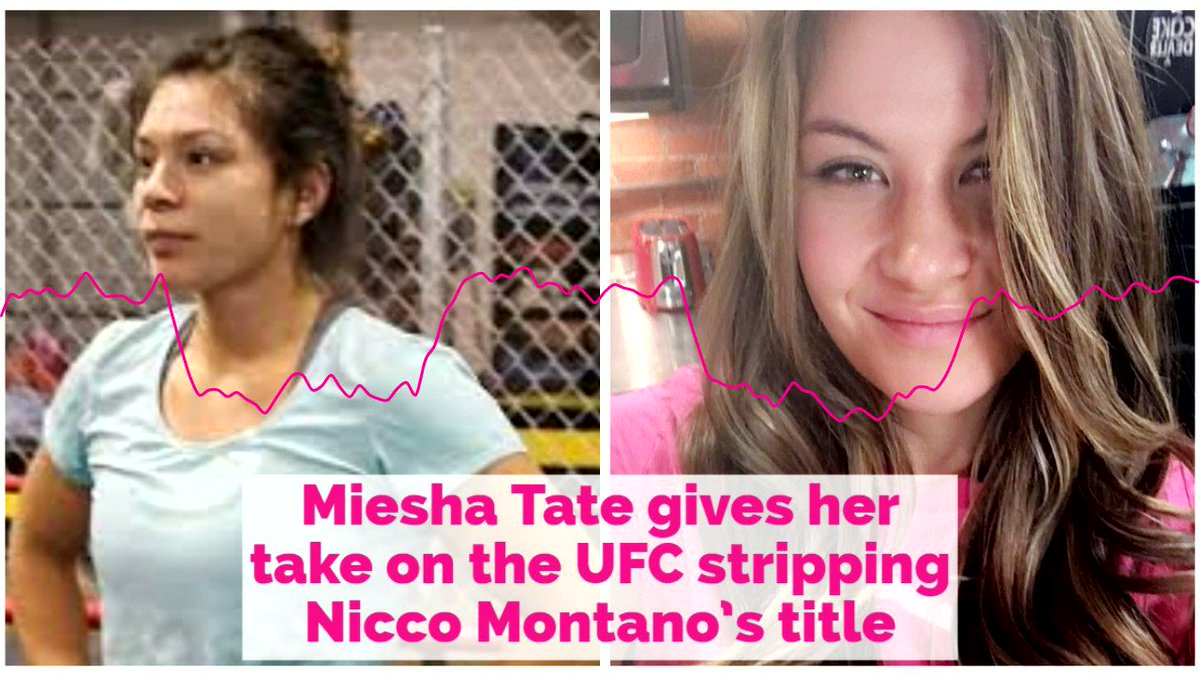 Thats the decision I would have made too. -- @MieshaTate explains to @RyanMcKinnell why she agrees with the statement the UFC made by stripping Nicco Montano #UFC228