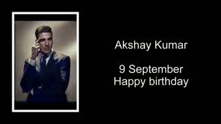Happy bday one and only megastar akshay kumar sir...