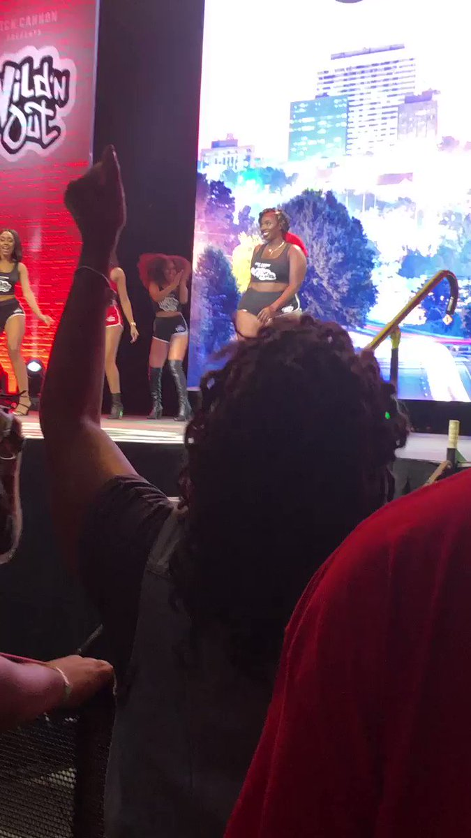 shoutout to @NickCannon for the plus size Wild N Out girl!!! & she chocolate!!! #WildNOut