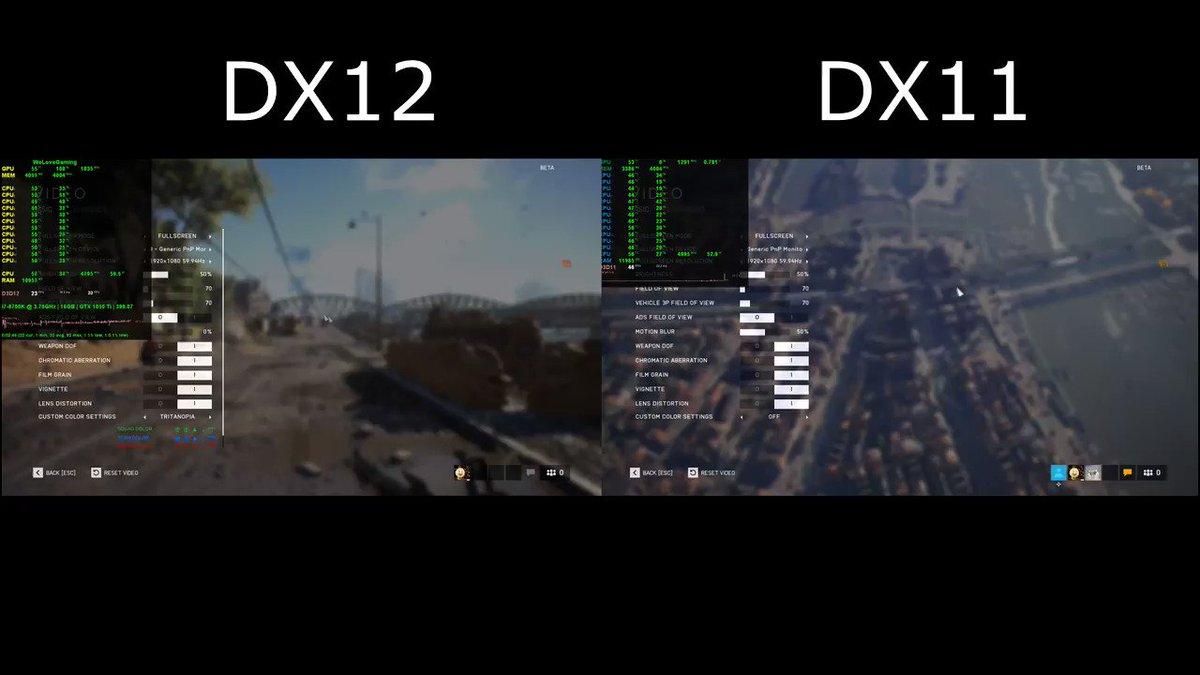 Bf5 dx11 vs dx12