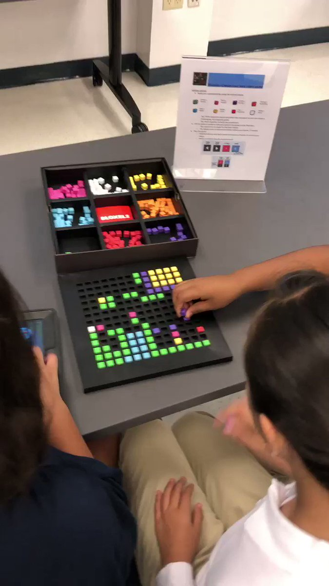 """We learned from our mistakes,"" with a smile on their faces is music to a teacher's ears! Problem solving with @BloxelsBuilder during 5th grade tours with @MDE_Stars ! @LWTechCollege @LWTHSMustangs"