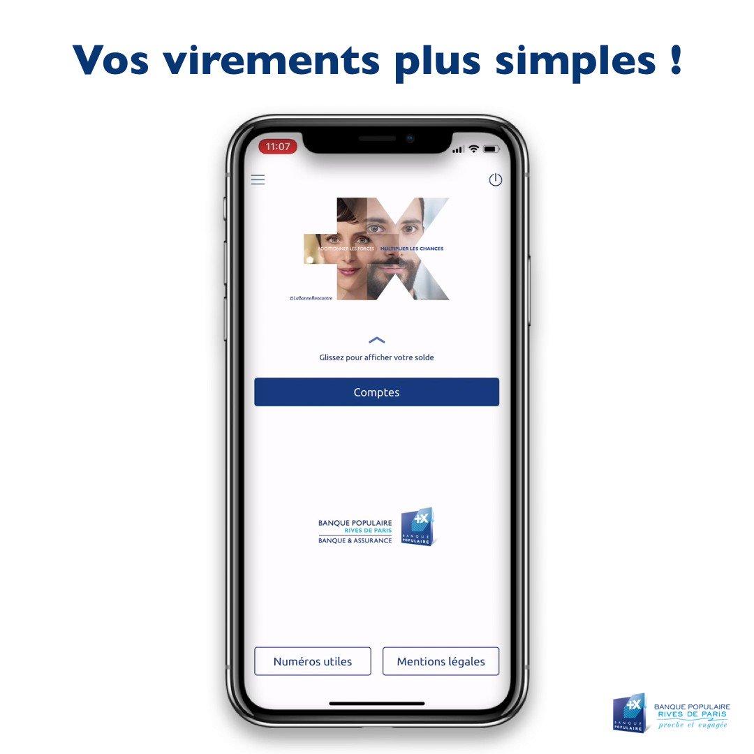 Bp Rives De Paris On Twitter Une Banque Plus Simple Virement