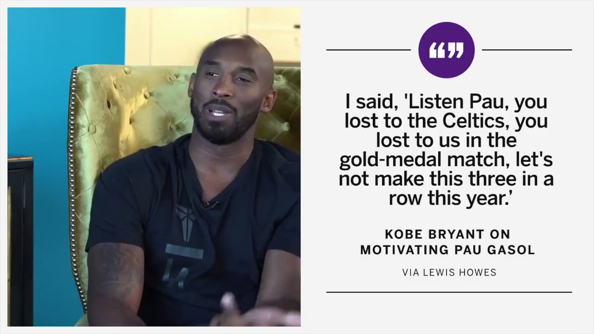 .@kobebryant really dangled his gold medal in front of Pau Gasol 😂 (via @LewisHowes)