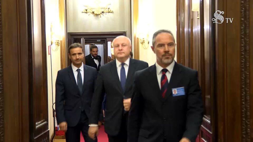 Il Presidente del Senato #AlbertiCasellati ha ricevuto, nel suo studio di #PalazzoMadama, il Presidente dell\