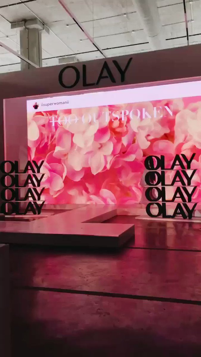 Our Queen @IISuperwomanII just WERKED it down @OlaySkin's runway at #NYFW! We could not be more proud! 💕✨👏🏽💕 #FaceAnything
