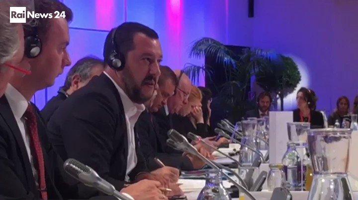 Tensione fra Matteo Salvini e il collega del Lussemburgo #Asselborn durante l\