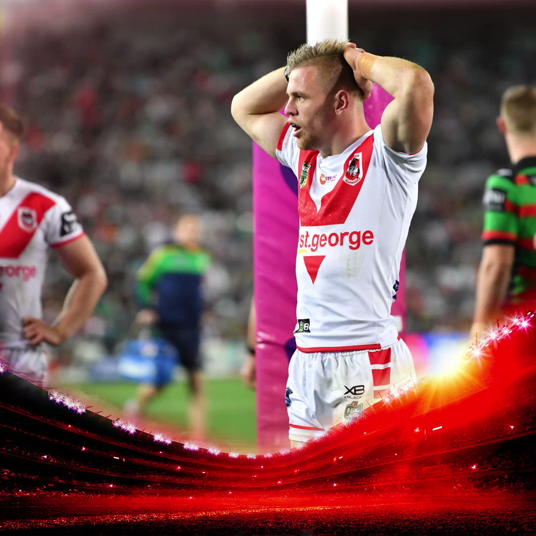 Heartbreak for the Dragons going down 13-12 to the Rabbitohs in the semi-final. Click through for more stats: http://stgi.co/2NIuY0G  #redv ##NRLSouthsDragons