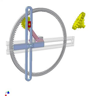 Gear Crank Mechanism for Linear Motion With Dwells