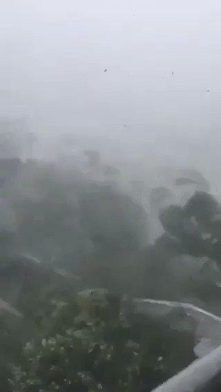 [EN DIRECT] Arrivée du #typhon #Mangkhut en #Chine sur #HongKong avec des vents à plus de 150 km/h.