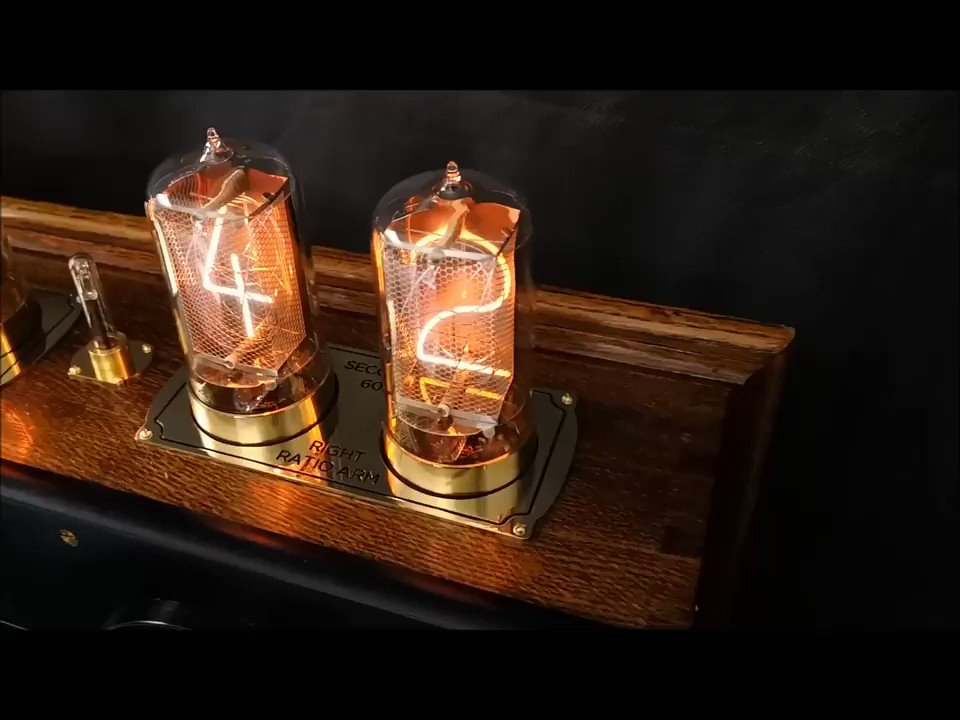 Been a busy week at @BadDogDesigns_ HQ! Here's a clip of the now complete Bridge Nixie Clock in all it's entirety. Lovey old piece of equipment respectfully given a new life. #Upcycledhour #Upcycle #Steampunk #Maker #Art #Geek #Clock #Mancave #electronics #Retro #vintage