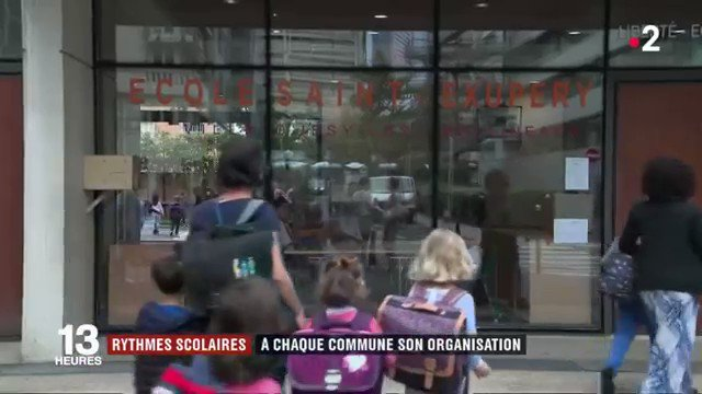 Image for the Tweet beginning: [Vu sur @France2tv] Rythmes scolaires