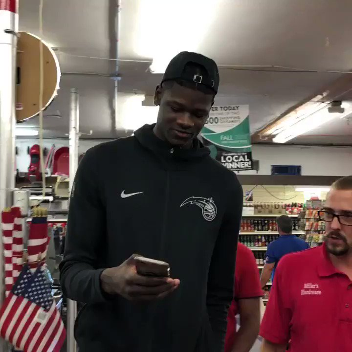 Mo Bamba has his list set!  Listen in to the items that Mo plans on getting at the hardware store. #ADayWithMo https://t.co/JK959LUlZj