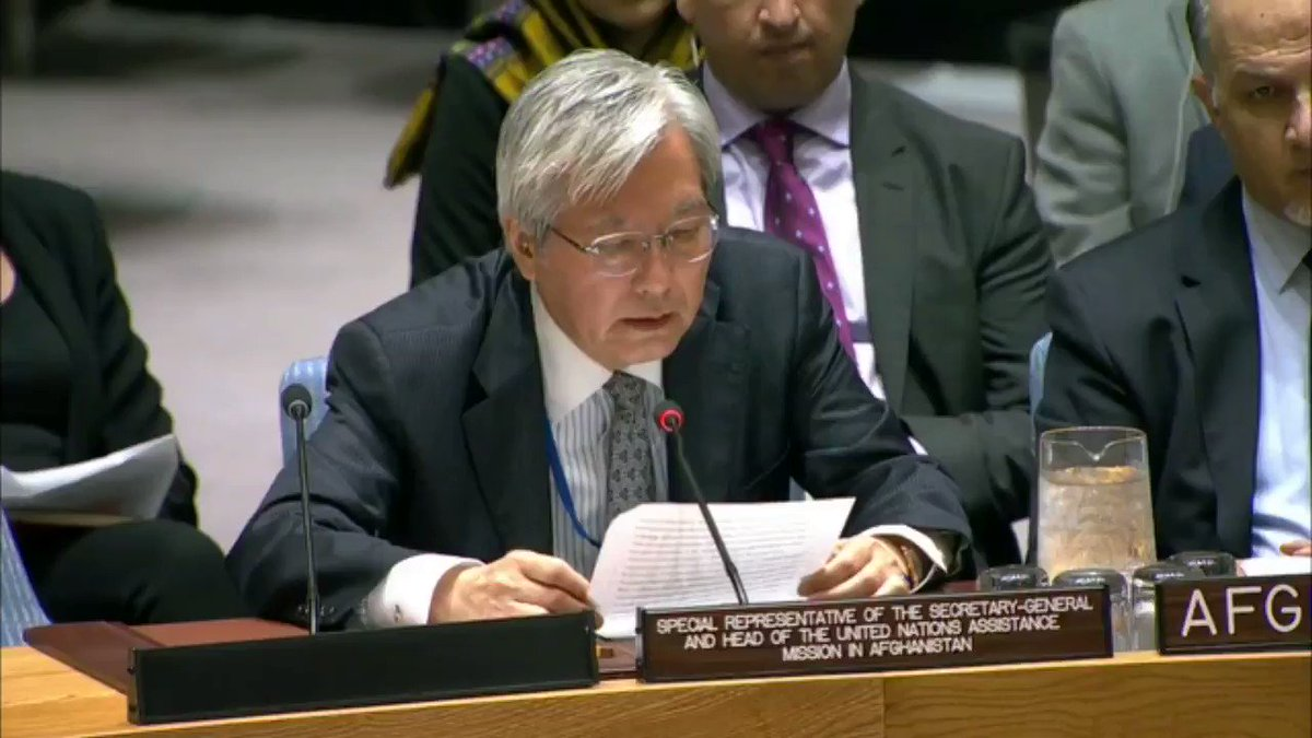 """Whatever setbacks may lie ahead, we are in a better position now than at any time in the past 17 years to commence the process which would lead to talks for a negotiated end to the conflict."" – UN envoy Yamamoto on #peace in #Afghanistan. Full statement: bit.ly/2MGJod4."