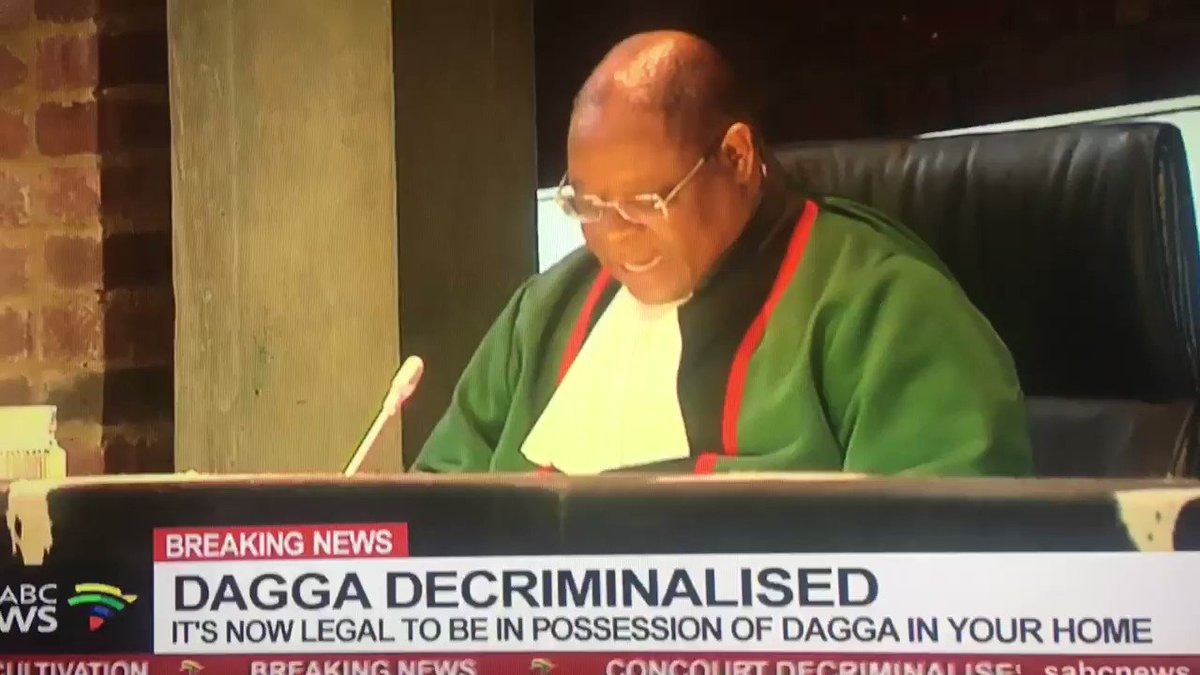 Image for the Tweet beginning: #Weed #Dagga  The Constitutional Court  Decriminalized