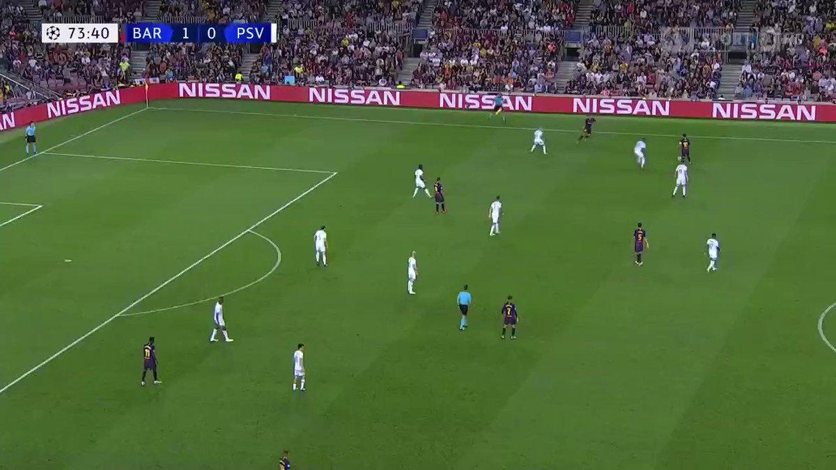 FC Barcelona - PSV 2-0 door Ousmane Dembele