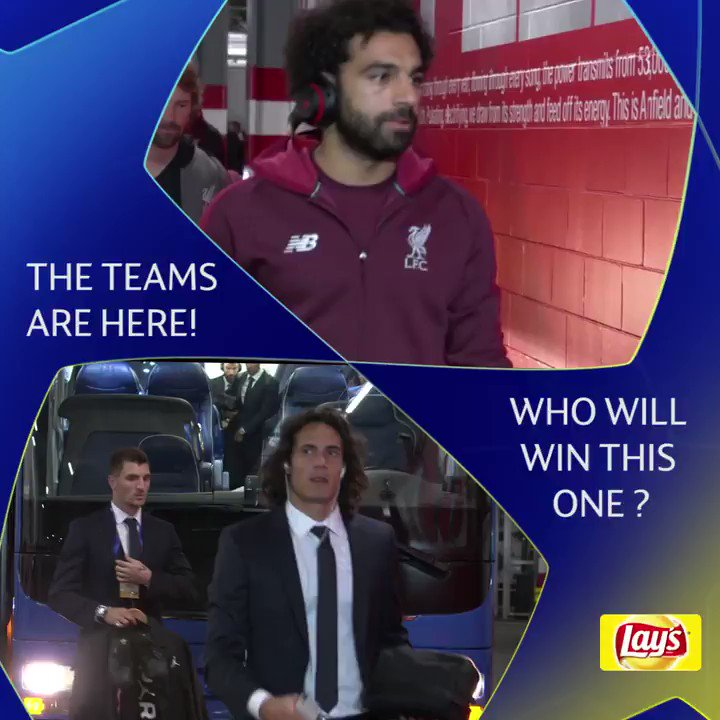 Nearly time! Liverpool or Paris? #UCL @LAYS https://t.co/Hn2BAef9NR