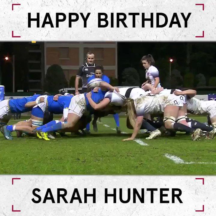Happy birthday to #RedRoses skipper @sarah_hunter8 🌹