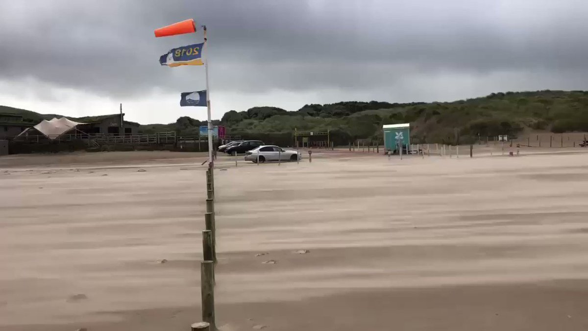 Stormy conditions along the north coast today as #StormAli moves across. Footage by Niall Doherty.