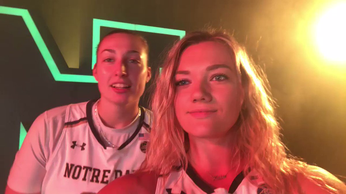 Coming soon to a screen 🎥 near you. @JShepard32 and @katcole22 give you a tour of our 🔥🔥🔥 video shoot. #GoIrish☘️