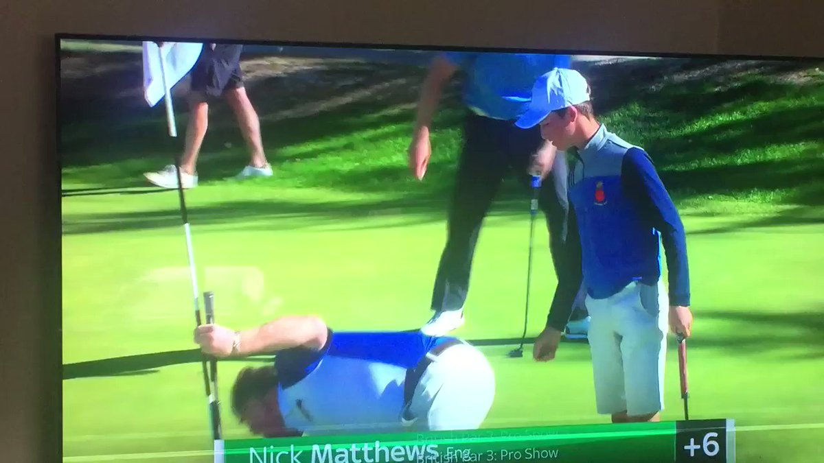 """Just turned on Sky Sports & enjoyed watching me doing a """"Man City supporters"""" routine, by not watching my golfing partner @Dean36ashton10 putt out on the @BritishPar3 championship ! It did the trick, as he sunk a fantastic 50 yarder, well 5 yarder !"""