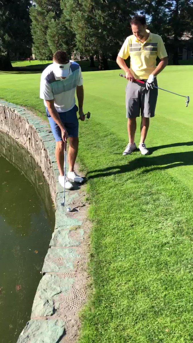 LOL 😂😂! @BrandonCantu @Philbrook_Law @RoyalOaksCC in Portland #GolfMatch