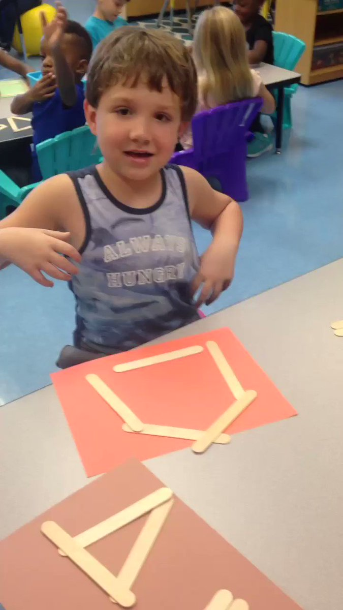 More fun with shapes in Ms. Flick's Class. #hesteach #spsk12proud