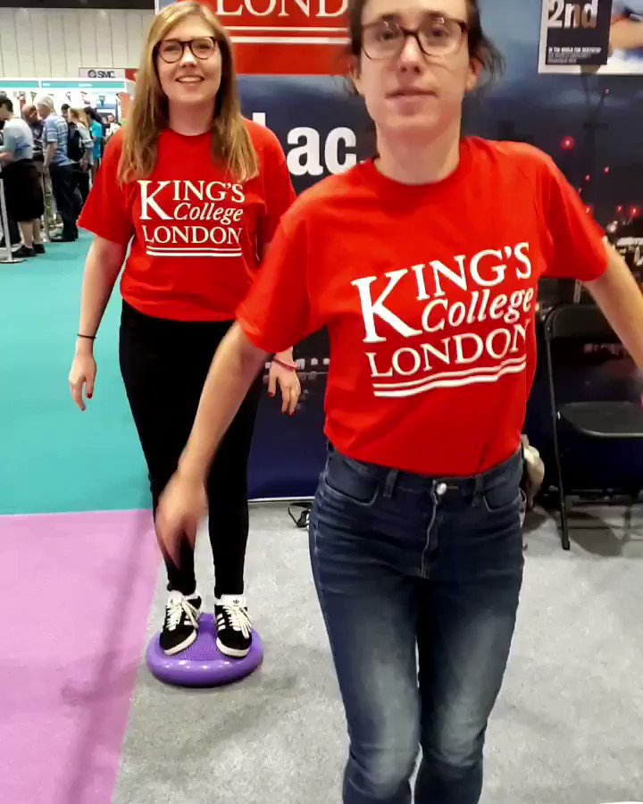 Today we're at #nslive with @kingsmedicine @kingsdentistry showing off our balance skills. We're so good we reckon we could balance with our eyes closed #wobblewobble #wobbleboard #twinresearch #scicomm