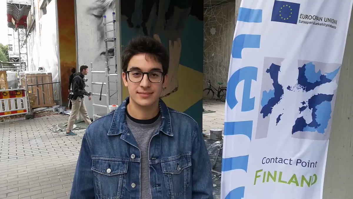 On #ECDay2018 we asked passers-by what European cooperation means to them and it turned out that Miguel is in Finland thanks to the cooperation. #cp_fin