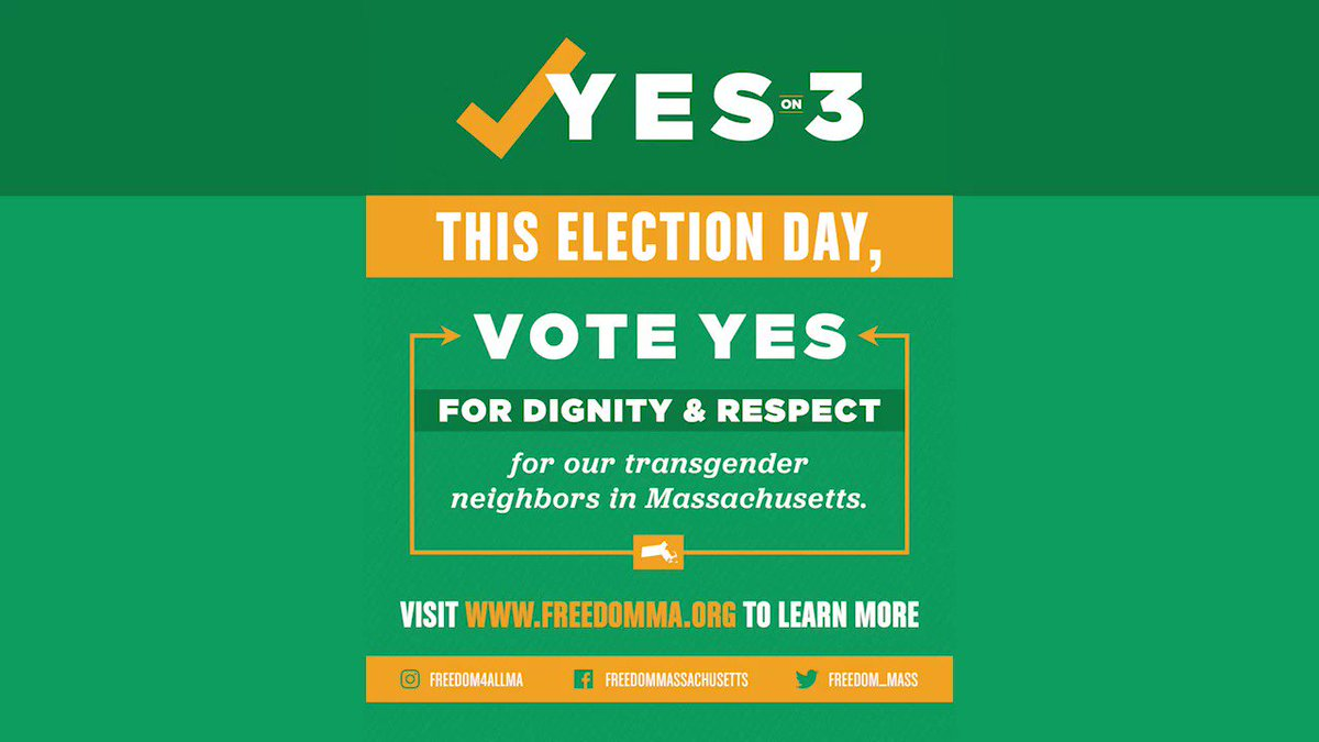 """Kaden Mohamed of @KeshetGLBTJews explains simply what voting #YesOn3 means to #transgender people across #Massachusetts: """"We want to live our lives without fear of discrimination—like everybody else."""" #MAPoli #TransLawMA"""
