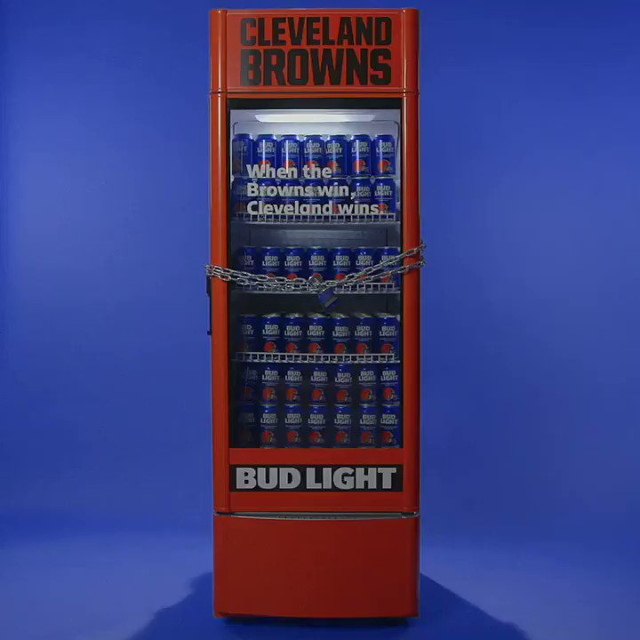 Cleveland, the @Browns won. The fridges are open. Go celebrate with a Bud Light. You've earned it.