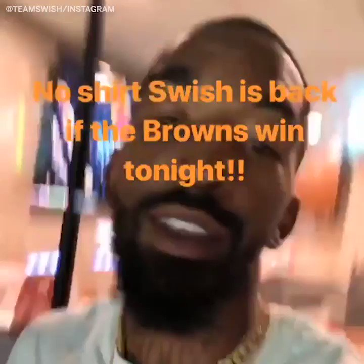 🚨 SHIRTLESS @TheRealJRSmith BACK FOR THE BROWNS WIN 🚨