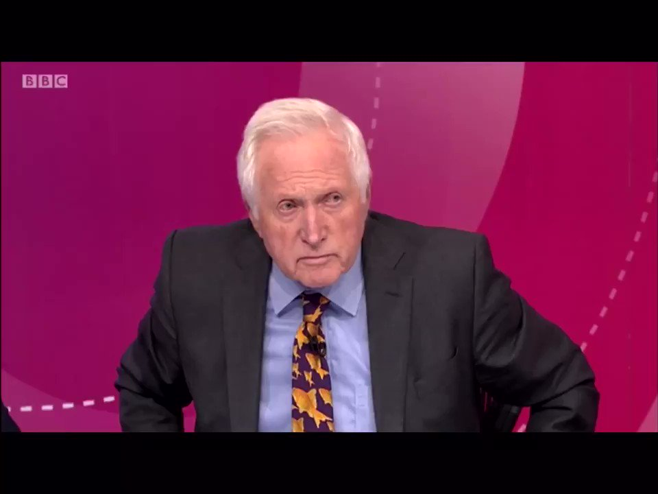 """Brilliant stuff. """"There isn't any evidence for that Vince, I'm sorry"""". Watch as Camilla Tominey destroys Vince Cable on another Remoaner- packed #bbcqt panel."""