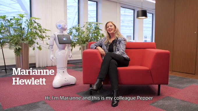 Pepper is very analytical and eats data for breakfast. @mariannehewlett's superpower is...