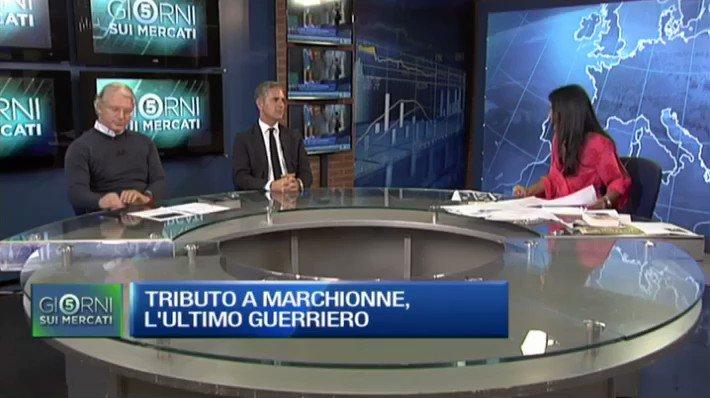 """.@Roberto_Russo1 AD #AssitecaSIM ricorda Sergio #Marchionne durante il tributo a lui dedicato nella trasmissione """"5 giorni sui mercati"""" condotta da @marina_valerio su @classcnbc venerdì 14 settembre  - Ukustom"""