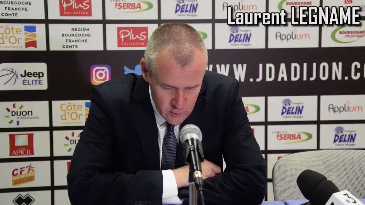 Image for the Tweet beginning: La réaction après @jdadijonbasket -
