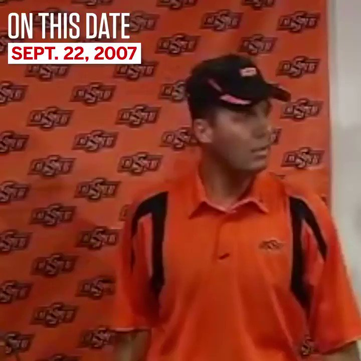 Mike Gundy is a man, and on this date in 2007, he was 40.
