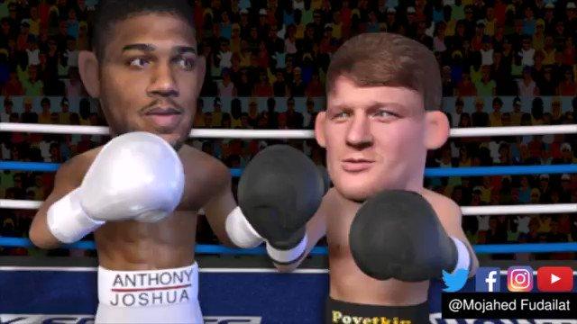 Anthony Joshua TKOs Alexander Povetkin after a DANGEROUS start #boxing #animation #JoshuaPovektin