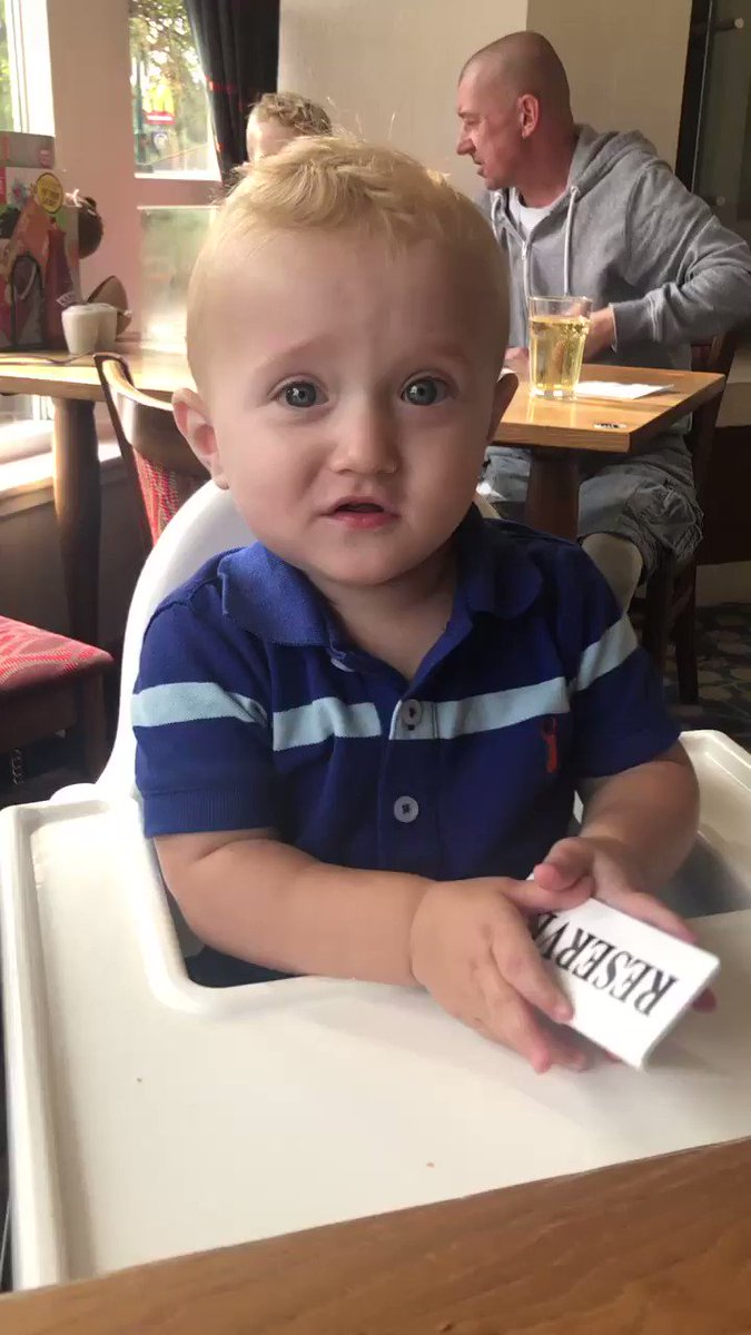 My 1 year old Theo doing his 180 impression, he can literally say dada, yeah, baba and oneeiggghtyyy lol 😂😂 @sophy_lui @paul_hinks2 @JohnMcDonald_MC @TheAsset180 @GeorgeNoble180 @Stevebeaton180 @Russ180 @KirkBevins180