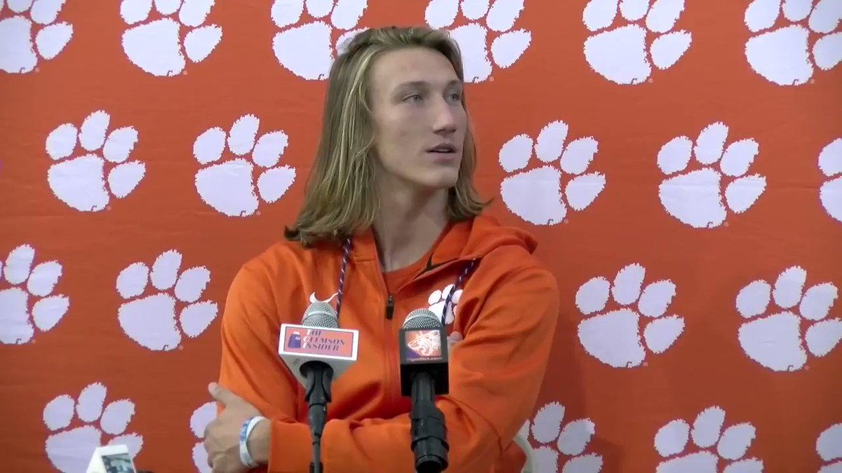 """Just putting my identity in what Christ says and who He thinks I am and who I know that He says I am."" -  Clemson QB Trevor Lawrence"