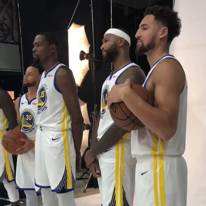 W A R R I O R S.  #NBAMediaDay https://t.co/V3RkhTxsEQ
