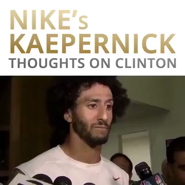"""We Have Hillary who has called BlackTeens 'Super Predators', Has Deleted Emails,Has Done Things Illegally,& is A Presidential Candidate"" ""IF that Was Any Other Person - They'd be in Prison "" #ColinKaepernick on HC #FridayFeeling #TuesdayThoughts #WednesdayWisdom @USANEWS007"