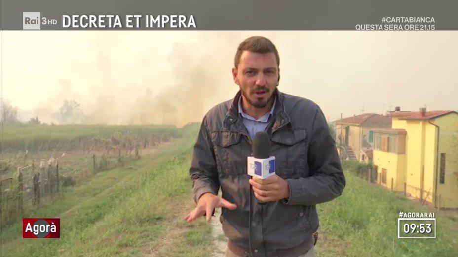 """""""Sospetto dolo, la stima per ora è di 500 persone evacuate""""Incendi in provincia di #Pisa, in diretta con @jacopocecconi. #calci #agorarai  - Ukustom"""