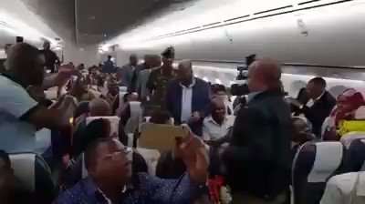"""Uhuru spends 1.8 million per hr on a luxury aircraft when MAGUFULI flies in a public Airline economy. When asked why?  He said """"l will channel the funds l would have spent on private jet to saving for the purchase of more planes and revamp the Tz airline."""