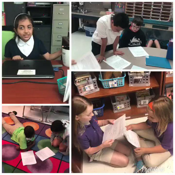Practicing our scripts for Parent Teacher Conference Day! @FarmerDragons @jdm1906