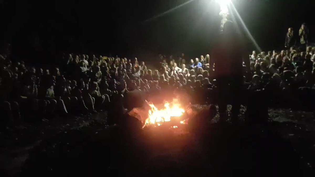 Great end to a fantastic day at Bradley Woods. Camp fire and songs. Reminder.......ETA tomorrow at Rodillian is 1.45pm to 2pm.
