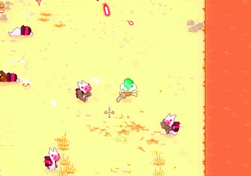 Enemies can tumble into each other and die now. 🙌 #gamedev #gamemaker