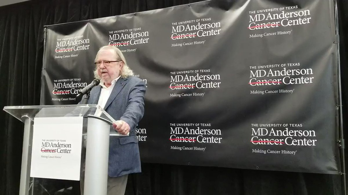 "2018 #NobelPrize Laureate James Allison: ""I didn't get in to this to cure #cancer, I got into this because I wanted to know how T-cells worked…I'm lucky to see, as a basic scientist, my work end up 20 years later helping patients."" #immunotherapy #solvecancer"