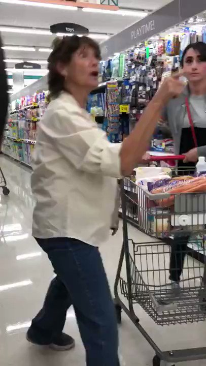 2 Hispanic women were approached and verbally assaulted by a racist white lady for speaking Spanish in store.   Another white woman who saw and heard this happening immediately stepped in to defend them.   SHERO!  WE NEED MORE OF THIS! SEE SOMETHING SAY SOMETHING!  RETWEET THIS!